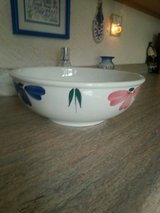 LARGE HAND PAINTED CERAMIC PASTA BOWL in Schaumburg, Illinois
