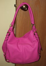 Bright Hot Pink Faux Leather Bucket Purse Handbag in Elgin, Illinois
