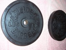 50 pounds of weight (for a barbell) in Ramstein, Germany
