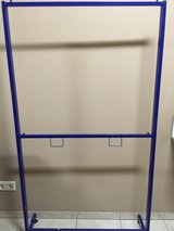 double hang blue metal clothes rack in Ramstein, Germany