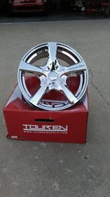 17 inch chrome rims in the box- with chrome lugs/locks in Fort Riley, Kansas