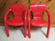 Two Red Kids Plastic Chairs in St. Charles, Illinois