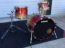 Yamaha Birch Custom Absolute Nouveau 3 Piece Drum Set Apple Sparkle Fade Japan in Davis-Monthan AFB, Arizona