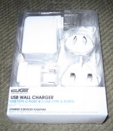 de 3 usb port travel wall charger with 2 type  type c port with us,eu,uk & au in Camp Lejeune, North Carolina