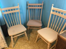 3 wood chairs very strong in Conroe, Texas