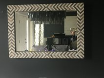 Wall mirror- gray herringbone pattern in Naperville, Illinois