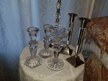 Lot of candle stick holders in Warner Robins, Georgia