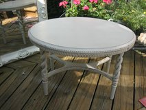 GREY TONE VINTAGE SHABBY CHIC OVAL TABLE in Plainfield, Illinois