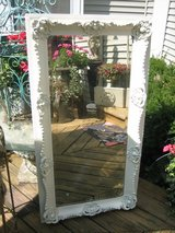 BEAUTIFUL TALL white shabby chic vintage mirror in Plainfield, Illinois
