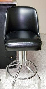 Leather swivel bar stools in Minot AFB, North Dakota