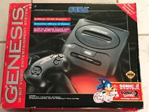 Sega Genesis 16bit Video Game in box, with two remote controllers and 3 games + 2 controllers in Vista, California