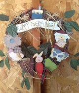 Happy everything wreath in Fort Irwin, California