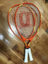 "Kids Wilson Tennis Rackets (Used Once).  3 1/2"" Grip - Qty 2 in Okinawa, Japan"