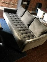 Havertys Grey Suede Couch in Byron, Georgia