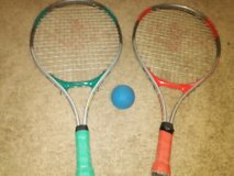 2 tennis rackets? and a Ball. in Beaufort, South Carolina