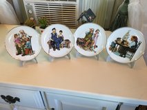 4 Norman Rockwell plates 24ktrim 61/2 diameter in The Woodlands, Texas