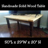 Handmade rustic solid wood coffee table in Fort Bliss, Texas