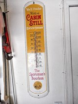 Thermometer Add Whellers Cabin Still Whisky Sportsman Burbin Vintage in Lake Elsinore, California