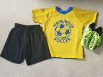 Naperville Park District Youth Soccer Shirt, soccer shorts & Umbro size 3 soccer shoes in Naperville, Illinois
