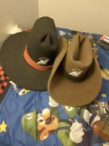 Black and Brown Hats in 29 Palms, California