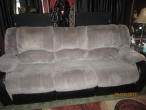 Grey Recliner Couch in Morris, Illinois