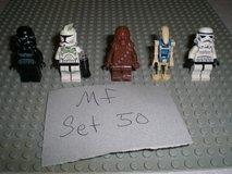 5 Lego Star Wars Minifigs Group 50 in Chicago, Illinois