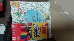 Colored pencils and adult coloring book  brand new in Camp Lejeune, North Carolina