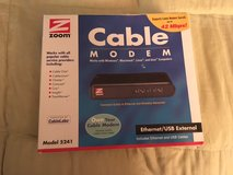 ***** Zoom 5241 Ethernet USB External Cable Modem 42 Mbps Docsis 2.0 ***** in Fort Lewis, Washington