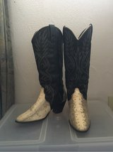 Acme snakeskin 6.5 cowboy boots in Okinawa, Japan
