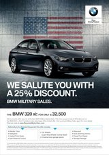 25% DISCOUNT MY2018 BMW 320i xDRIVE SEDAN in Hohenfels, Germany