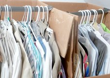 DOZENS OF MEN'S DRESS/CASUAL SHIRTS, SLACKS, BLUE JEANS, EXC COND in Katy, Texas