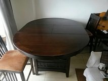 Round Wooden Table in Okinawa, Japan