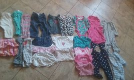 Girl clothes, 3-9 months, 60 pieces in Byron, Georgia