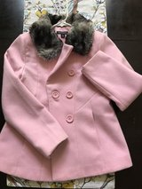 Girls pink pea coat size 7/8 in Pleasant View, Tennessee