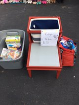 chalk painted lego table with basket in New Lenox, Illinois