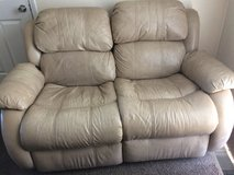 White leather couch in Clarksville, Tennessee