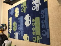 Boys Car n Truck Wool Rug 5 x 7.6 By Chandra in Yorkville, Illinois