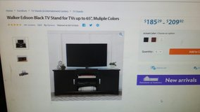 Walker Edison black tv stand in Fort Campbell, Kentucky