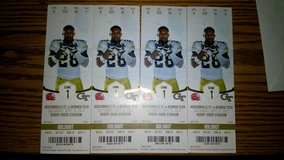 Four Georgia Tech vs. Jacksonville State tickets for Sept. 9 in Byron, Georgia