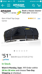 RainX waterproof car luggage topper-with case in Fort Carson, Colorado