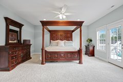 Massive Wood King Bedroom Suite - 9 pieces! in Wilmington, North Carolina