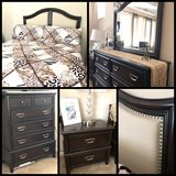 Tufted nailed Headboard and Queen Bedroom set in Fairfield, California