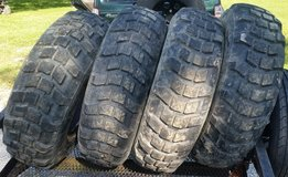 "4 Lightly Used Michelin XL 12.5R20 40"" tall tires Military Tires in Dickson, Tennessee"