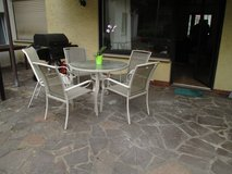Just Reduced!  Glass Table and Five Chairs in Ramstein, Germany