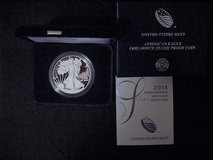 2015 Silver Eagle Silver Dollar Proof,Coin, 99.9% Silver US MINT  No Mint Mark (Philadelphia) in Yucca Valley, California