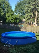 14ft Pool with cover, chemicals, vacuum in St. Charles, Illinois