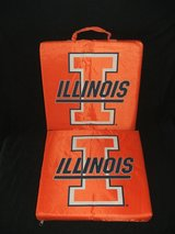 (2) Illinois Fighting Illini Stadium Seat Cushions in Naperville, Illinois