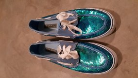Teal Sequin Sperry Top Sider Size 7 in Leesville, Louisiana