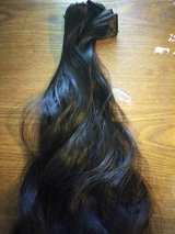 Dark brown real clip in hair extensions in Lufkin, Texas