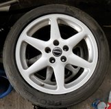 4 Borbet Rims with 3 Tires Fit Medcedes , Opel Audi 5 Lug Patterns in Ramstein, Germany